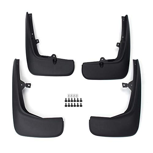 FWC 4Pcs Mudflaps Rubber Mudguards Black For Land Rover Discovery 4 2009-2016 Front Rear Splash Guard Set Screws Upgraded Fender Styling /& Body Fittings Mud Flaps Splash
