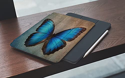 Case for iPad (9.7-Inch, 2018/2017 Model, 6th/5th Generation) Brick Wall Retro Street Light Antique Rock Marble Simulation Rural Art with Shockproof TPU Back Cover, Auto Wake/Sleep