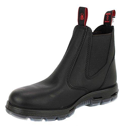 RedbacK Men's Bobcat UBBK Elastic Sided Soft Toe Black Leather Work Boot, 10.5 AU 3E (11.5 M US Men)
