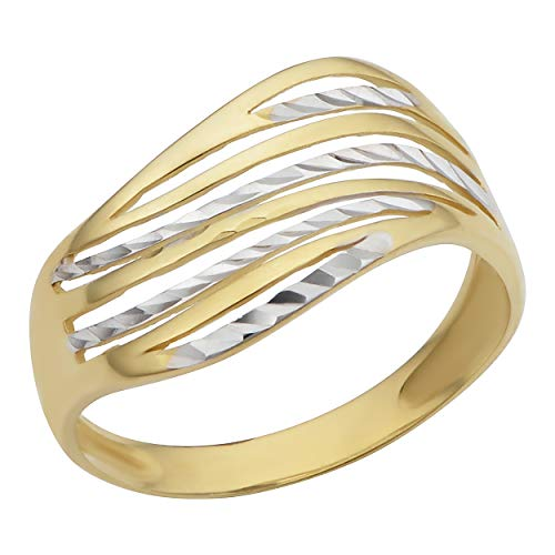 10k Two Tone Ring - 1