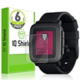 IQ Shield Screen Protector Compatible with Pebble Time (6-Pack) LiquidSkin Anti-Bubble Clear Film