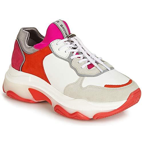 Bronx BAISLEY Sneaker Damen Weiss/Rot - 38 - Sneaker Low