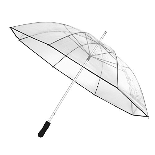 inspi Regenschirm transparent Stockschirm Partnerschirm Golfschirm Schirm XXL