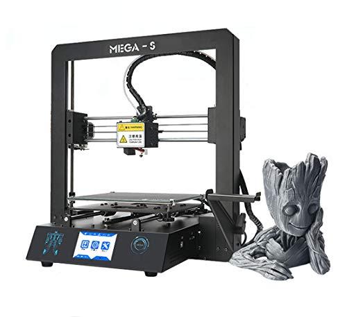 ZIHENGUO Imprimante 3D Mega-S, Format d'impression 210 x 210 x 205 mm, avec Plaque de Construction chauffante UltraBase et écran Tactile TFT, Fonctionne avec TPU/PLA/ABS