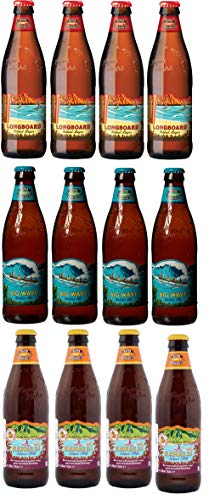 12 Flaschen Kona 3 Sorten Mix Hanalai, Big Wave und Longboard inkl. EINWEG Pfand
