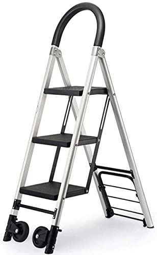 XYXZ Household Ladder High Strength A Frame Telescopic Folding Ladder Aluminium Extendable Extension Foldable Portable Steps Ladders Indoor Outdoor 330Lbs Load Capacity