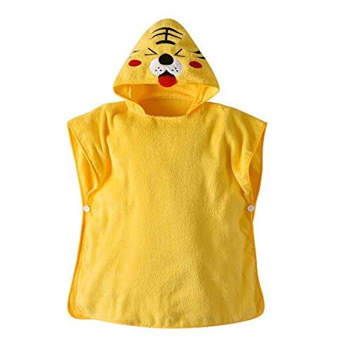 BenCreative Baby Jungen Mädchen Mit Kapuze Bademantel Kinder Schöne Baumwolle Decke Saugfähigen Badetuch (Meerjungfrau) Yellow Tiger 60 * 60cm