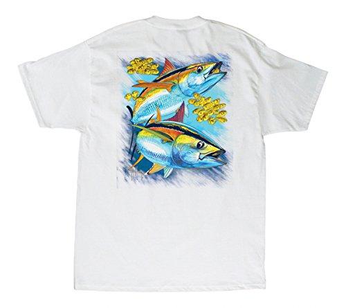 Guy Harvey Hot Tuna T-Shirt - White - Small