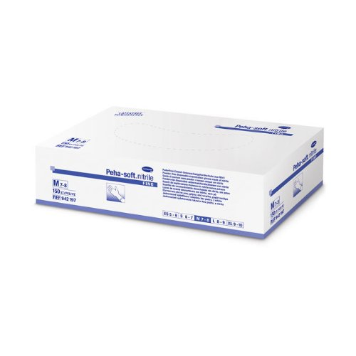 150 Peha-soft nitrile fino Nitrilhandschuh blau latexfrei Gr. M