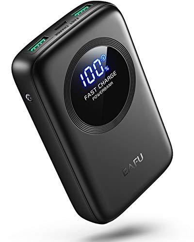 EAFU Power Bank, Ultra compact Display LED 12000mAh Caricatore Batteria PortatileIl, PowerBank Alta velocità Doppio 3A con USB C e Torcia per iPhone 11 12 iPad Airpods Samsung Huawei Xiaomi Switch ECC