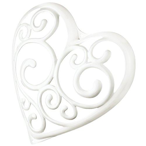 koziol élément décoratif Sissi, thermoplastique, blanc, 4,3 x 23,8 x 24,4 cm