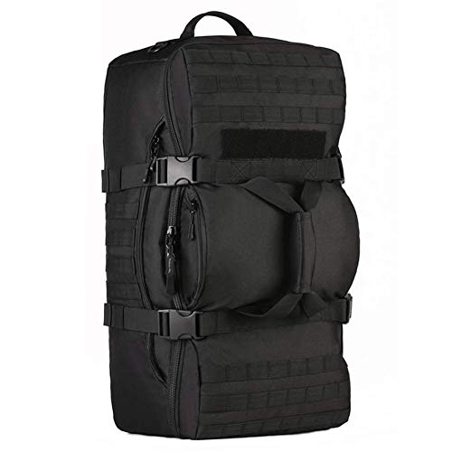 60L Tactical Backpack Molle Luggage Bags Military Tactics Assault Travel Bags for Outdoor Sports Climbing Hiking Camping-Black