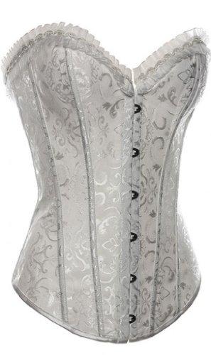 Alivila.Y Damen Korsett Fashion Corset, 2615-White-XXL, Weiß, 2615-White-XXL XXL (Pecho: 37-39