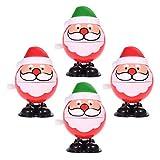 Toddmomy 4 piezas de juguete de cuerda de Navidad Santa Claus Walking Toys