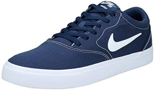Nike SB Charge Canvas, Zapatillas de Skateboarding Unisex Adulto, Multicolor (Midnight Navy/White/Midnight Navy/Black 402), 45 EU