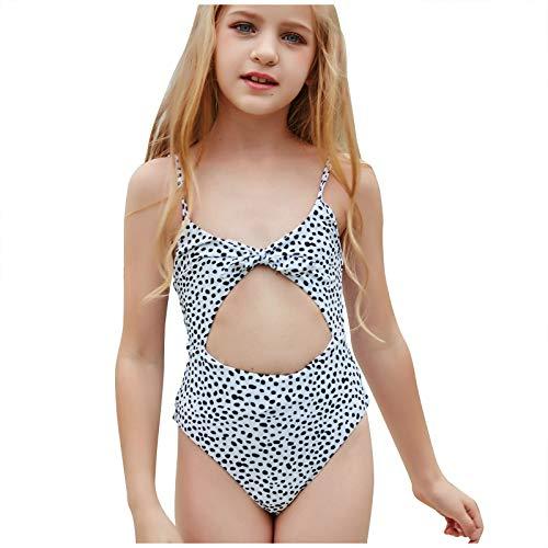 Bañador de una pieza para niñas pequeñas, diseño de leopardo, con estampado de leopardo, para playa, talla Reino Unido, el mejor regalo de cumpleaños
