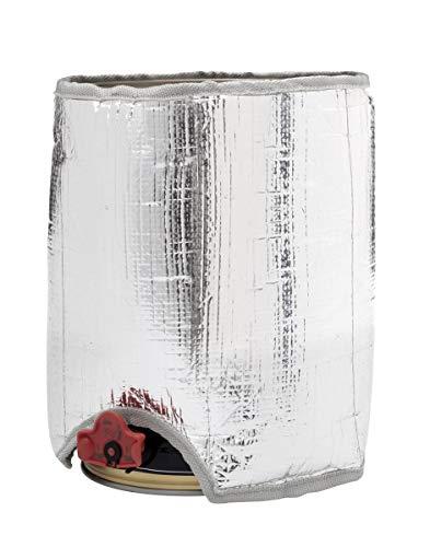 5 Liter Kühlmanschette für 5 L Kühlakku 5 Liter Bierfass Partyfass Zapfanlage Clauss (Silberoptik)