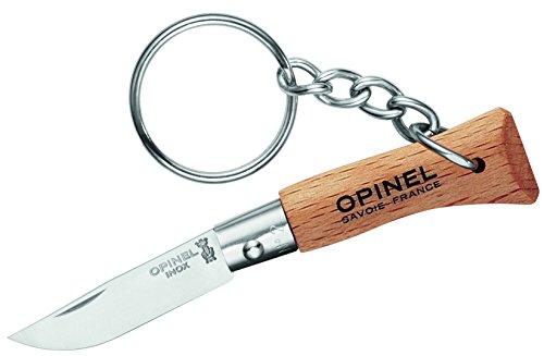 Opinel Mini-Messer, Größe 2, rostfrei, mit Anhänger