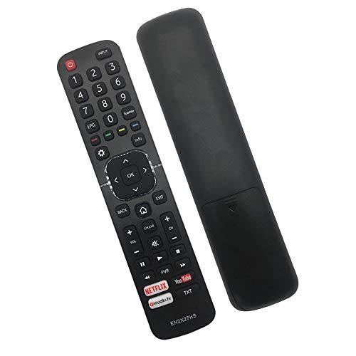 RIRY EN2X27HS Mando a Distancia para Hisense TV, Reemplazo Mando a Distancia para Hisense LCD LED Smart TV