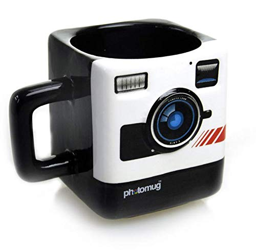 qnmbdgm Creatieve camera keramische beker Britse Mosterd Foto Mok Polaroid camera stijl koffiebeker Melk lens beker Nieuwigheid geschenken