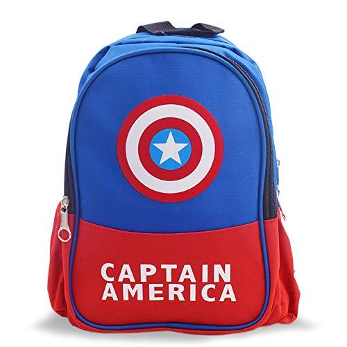 YUIP Mochila Capitán América Mochilas Infantiles Bolsa Escuela Mochila para Niños de Libro de Jardín de Infantes Ajustables Mochila de Libro de Niñas de Escuela Primaria