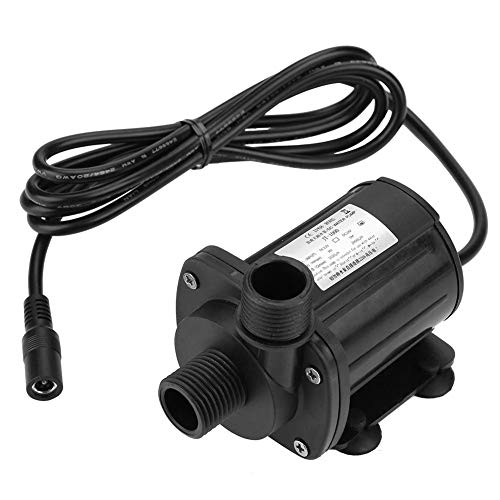 DC 12V Submersible Water Pump, 5M Hydraulic Head Brushless Mini Water Pump Low Noise -40℃-100℃