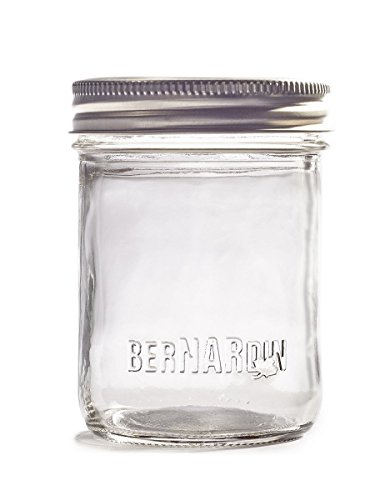 Bernardin 250 mL Smooth Sided Jars, Regular Mouth (70 mm) - 12 Count