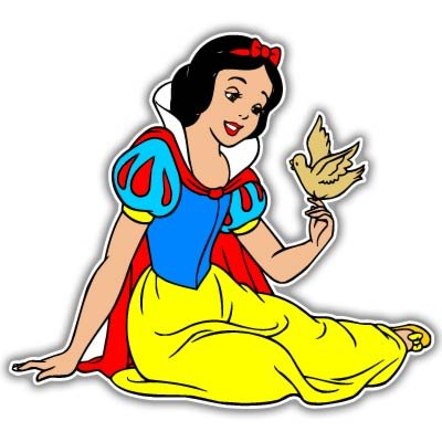 Snow White and Seven 7 Dwarfs Princess Vynil Car Sticker Decal - Select Size