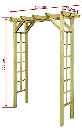 JXQ Cars Jardín/Arcos Arcos de Madera/Aumentaron Arcos para Plantas trepadoras, FSC Madera impregnada,Wood