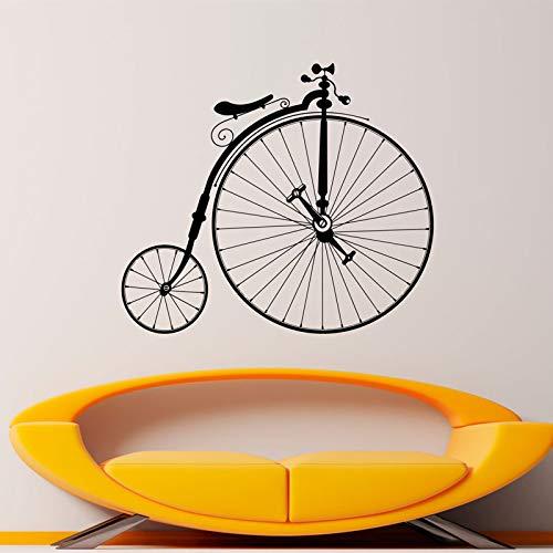 48x42 cm Antike Fahrrad Aufkleber Hipster Wand Vinyl Aufkleber Sport Bike Home Schlafzimmer Dekor Wandbilder Retro Riesenräder Fahrrad Dekorationen