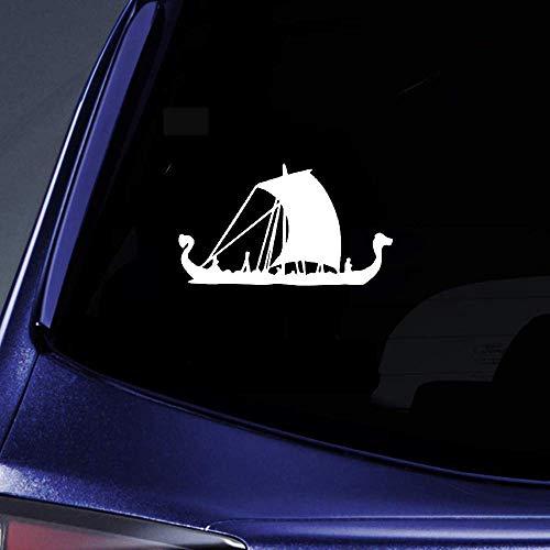 DKISEE Eenvoudige Boot Schip Zeilschaduw Dazzling Decal Mooie Auto Decal, Vinyl Motorfiets Truck Auto Bumper Sticker Raam Spiegel Muursticker Laptop Decal, 6 Inch