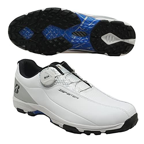 ブリヂストンゴルフ(ブリヂストンゴルフ) ゴルフシューズ ゼロ・スパイク バイター ライト SHG150WS (ホワイト×シルバー/26.5/Men's)