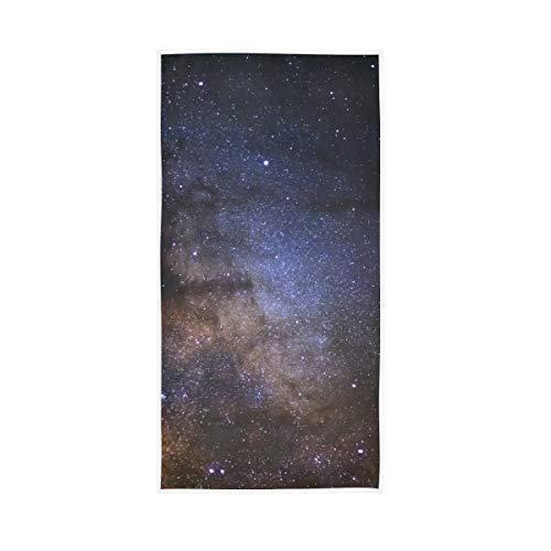Rootti - Toalla de mano de algodón con patrón de estrella galaxia, lavable, toalla de cara, toalla suave y transpirable, juego de toallas para nadar hotel