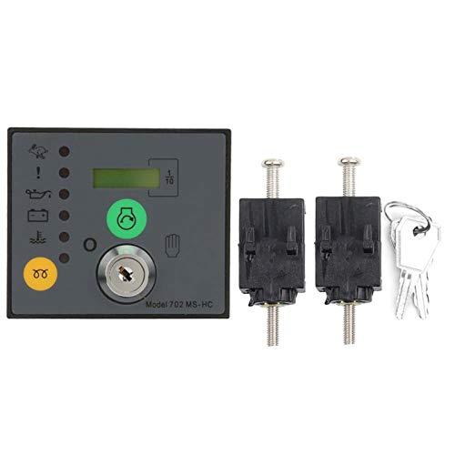 Yisenda Controlador del generador, Controlador electrónico del generador Panel de Control del generador, para arrancar y Detener manualmente el generador del Motor