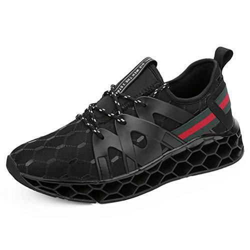 Turnschuhe Herren Laufschuhe Damen Sportschuhe Fitness Straßenlaufschuhe Sneaker für Running Outdoor(Schwarz,Größe 44)