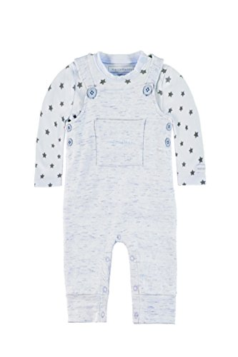 bellybutton KiKo Unisex, Strampler, Set 2tlg. T-Shirt 1/1 Arm + Overall, Blau (light Blue 3994), 62
