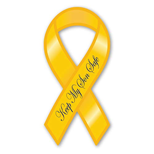 Keep My Son Safe Yellow Ribbon Magnet