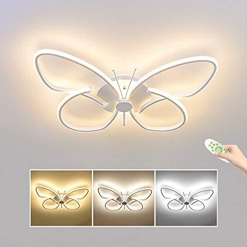 Moderna LED Lámpara, 42W 4200LM Mariposa Creativa Aluminio Luz de Techo, Regulable con Control Remoto, 3000K - 6000K Φ64*44, Luces de Techo for la Habitación de Los Niños, Sala de Estar, Dormitorio