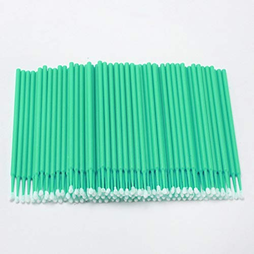 Ssg 100PCS Tattoo Cotton Swab Lint Fournitures Brosse Microblading Micro Brosses Applicateur Tattoo Accessoires for le maquillage Nouveau (Color : Green)