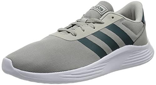 adidas Lite Racer 2.0, Sneaker Hombre, Grey/Wild Teal/Footwear White, 43 1/3 EU