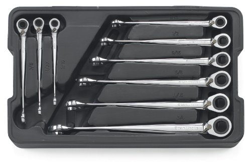 GEARWRENCH 9 Pc. 12 Point Reversible XL X-Beam Ratcheting Combination SAE Wrench Set - 85398
