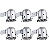 Studebaker Commander Accessory Lighting - TORCHSTAR 6 Pack 6 Inch Remodel Recessed Light Housing, Air Tight IC Rated Aluminum Remodel LED Can, E26 Socket Included for Recessed Lighting, UL Listed