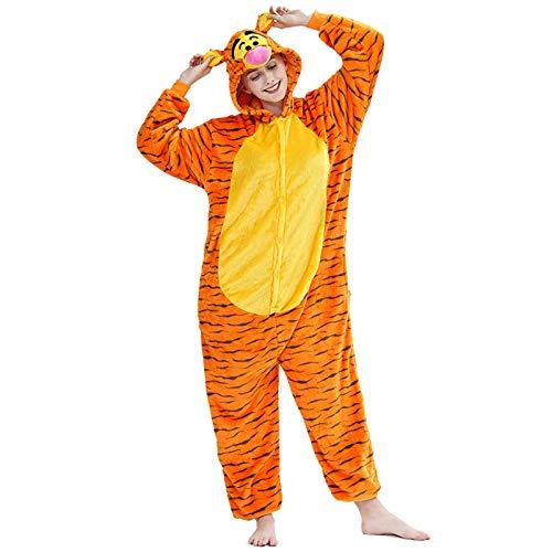 JXILY Tier Kostüm Einteiliger, Damen Schlafanzug, Cartoon Einteilige Pyjamas 3D...