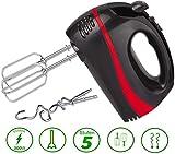 Turbo Handmixer | 300 Watt | 5 Stufen | Turbofunktion | Handrührer | Stabmixer | Hand Mixer | Handrührgerät | Rührer | Pürierstab | Edelstahl-Knethaken | Edelstahl-Rührhaken |