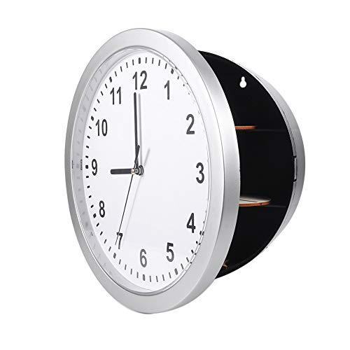 Alupre Reloj de Pared Oculto Secreto de contenedores Caja Fuerte Compatible con Dinero Stash joyería Objetos de Valor en Efectivo de Almacenamiento