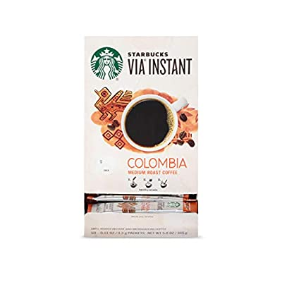 Starbucks VIA Instant Coffee Medium Roast Packets — Colombia — 1 box (50 packets)