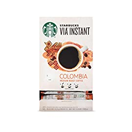Starbucks VIA Instant Coffee Medium Roast Packets 1 Made only with high-quality arabica coffee beans Starbucks via instant Italian Roast coffee is roast and sweet with a rich, deep flavor and notes of caramelized sugar Just tear open a packet of Starbucks via instant Italian Roast coffee, add hot water, wait 10 seconds and stir. No coffee machine or grinder needed