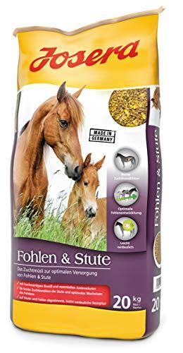 JOSERA Fohlen & Stute, Premium Pferdefutter für eine optimale Versorgung, haferfrei, energiereiches Müsli für Stuten und Fohlen, 1er Pack (1 x 20 kg)