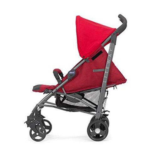 Chicco Lite Way2 - Silla de paseo ligera y compacta, 7 kg, colección 2017, color rojo