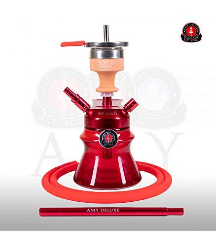 AMY Shisha Alu Sphere Bag 094.03 - red | kleine Aluminium Wasserpfeife